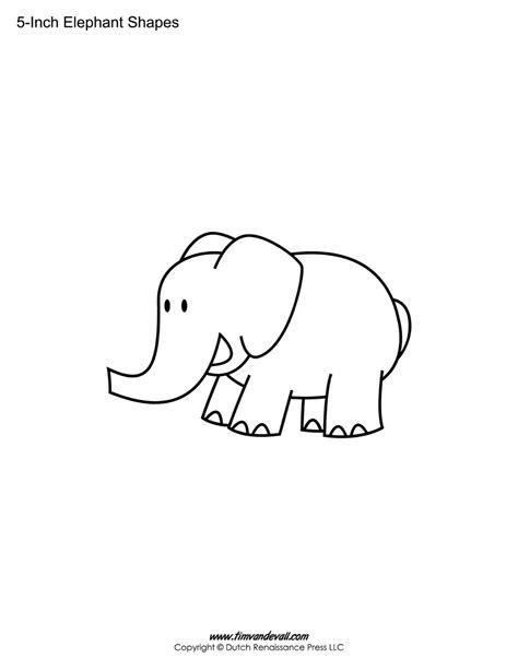 Elephant Template Printable Elephant Templates Elephant Shapes For