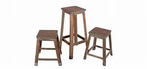 Petit Tabouret Bois : tabouret en bois vieilli optez pour nos tabourets en bois vielli rdv d co ~ Teatrodelosmanantiales.com Idées de Décoration