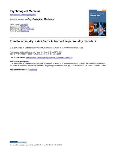 prenatal adversity  risk factor  borderline
