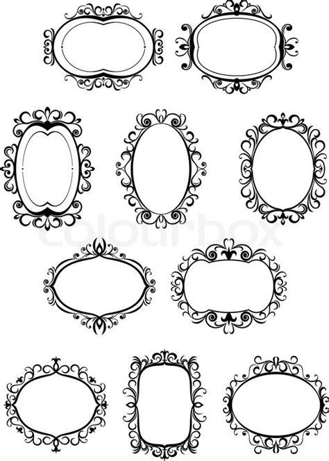 retro frames  embellishments stock vector colourbox