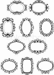 Rahmen Vorlagen Schnörkel : retro frames mit verzierungen vektorgrafik colourbox ~ Eleganceandgraceweddings.com Haus und Dekorationen
