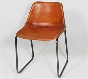 Chaise Industrielle Cuir : chaise industrielle cuir et metal made in meubles ~ Teatrodelosmanantiales.com Idées de Décoration