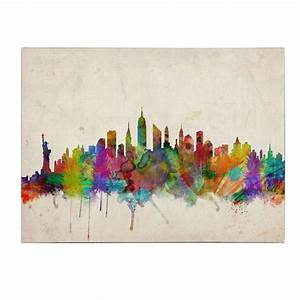 spray painting of new york skyline defendbigbirdcom With what kind of paint to use on kitchen cabinets for custom photo canvas wall art