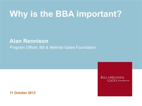 Bill and Melinda Gates Foundation presentation