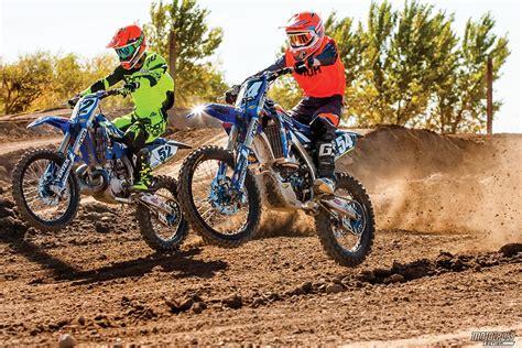 two four shootout yz250 two stroke yz250f four stroke motocross magazine