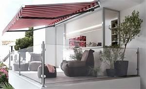 balkon sichtschutz losungen fur jeden balkon schoner With markise balkon mit tapeten modernes wohnen