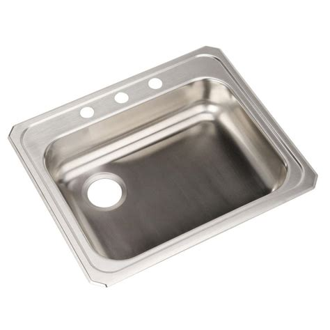 25 stainless steel kitchen sink elkay ada drop in stainless steel 25 in 3 7308