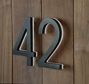 luxello modern bronze house numbers illuminated With modern house numbers and letters