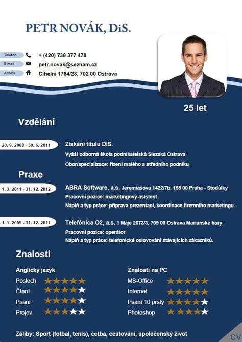 Pro Cv by Pro Cv 3 Vzor Muž V 237 Ce Informac 237 Zde Http Www Pro Cv