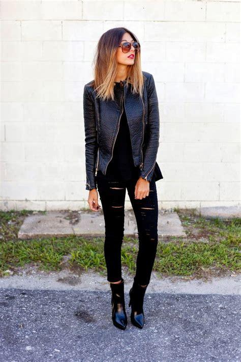 Herbst Outfit mit Lederjacke - 38 tolle Ideen zum Nachstylen