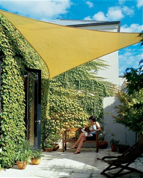 3 6m beige triangle sun shade sail canopy garden patio