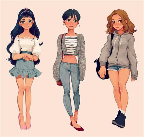 streetstyle character design digitalart girls