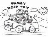 Coloring Trip Road Clip Clipart Pages Colouring Vacation Activities Trips Printables Drawing Roadtrip Google Summer Printable Traveling Travel Winding Trail sketch template