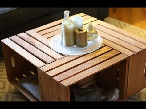 build  coffee table  crates furniture diy youtube