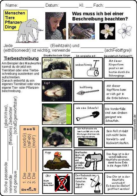 sachliche tierbeschreibung