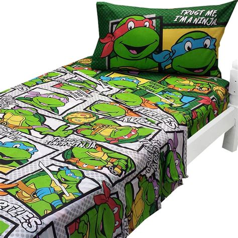 Turtle Bed Set by Mutant Turtles Sheets Trust