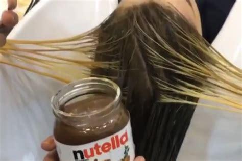 beauty hack dye  hair  nutella  real