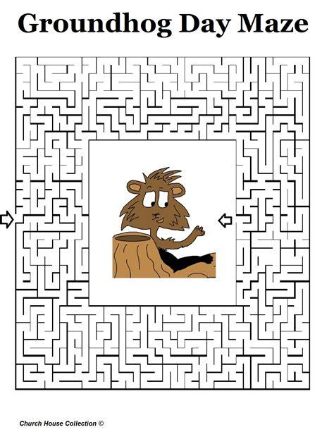 groundhog day mazes for school