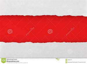 Torn Paper With Red Blank Space For Your Text Stock Photo ...