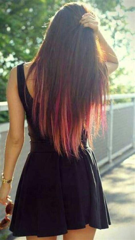 Really Brown Hair Dye by Really Like This Hair Hair Hair Dip Dye Hair Hair