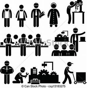 Director, trabajador, fábrica, trabajando. Conjunto ...