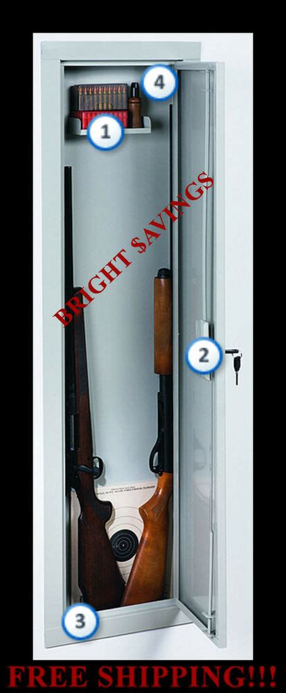 Stack On In Wall Gun Cabinet - stack on iwc 55 length in wall gun storage vault