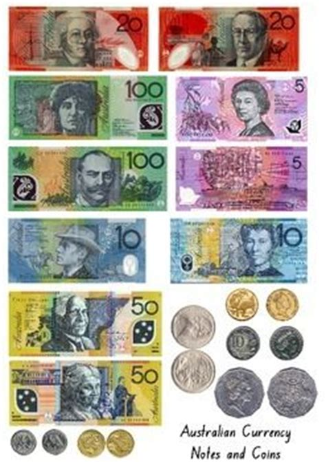 front   australian notes  coin printables print