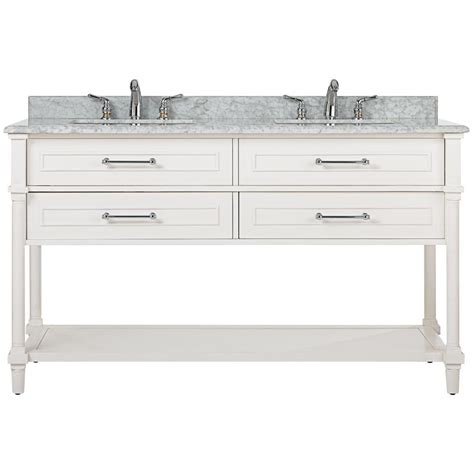 Home Decorators Home Depot Vanity by Home Decorators Collection Aberdeen 60 In W Open Shelf
