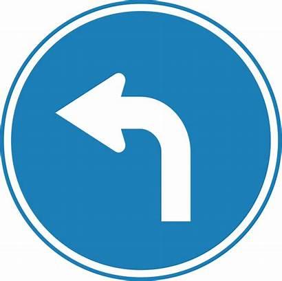 Svg Turn Left Sign Traffic Korean Commons