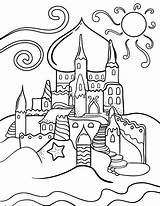 Coloring Pages Sandcastle Printable Printables Coloringcafe Colour Colouring Castle Summer Sheet Children Pdf Drawings Outline Themes Holiday Toddlers Paper Button sketch template