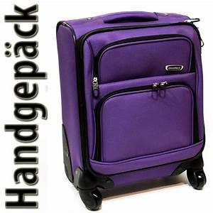 Koffer Zum Rollen : handgep ck koffer 4 rollen 360 trolley nylon lila 20 liter tr0074 bware ebay ~ Markanthonyermac.com Haus und Dekorationen