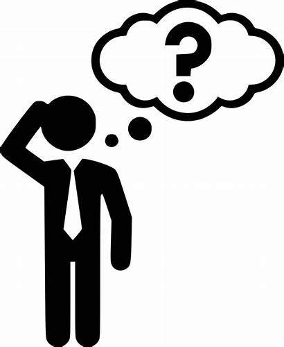 Thinking Icon Thinker Cuestion Answer Svg Icons