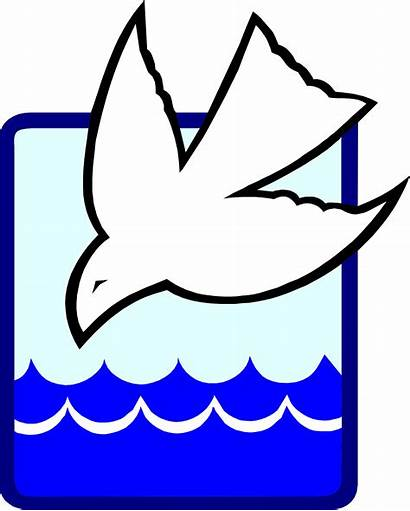 Baptism Clipart Water Dove Clip Spirit Into