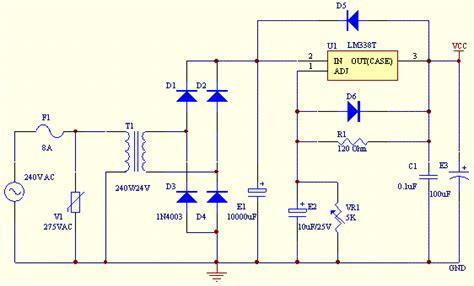 dc power supply schematic