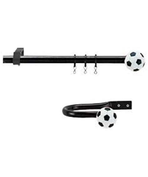 football curtain pole curtain design