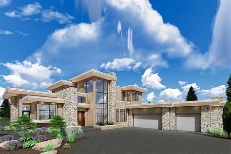 luxury modern house plan upstairs master retreat ab architectural designs house