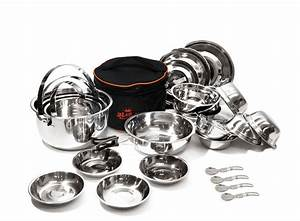 Stainless, Steel, Outdoor, Camping, Cookware, Cooking, Portable