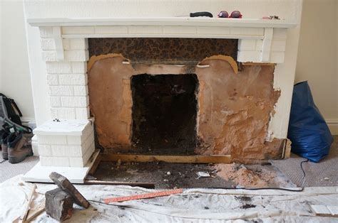 hammer brush removing  gas fire