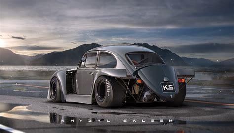 porsche volkswagen beetle volkswagen beetle gets porsche 917k aero elements in