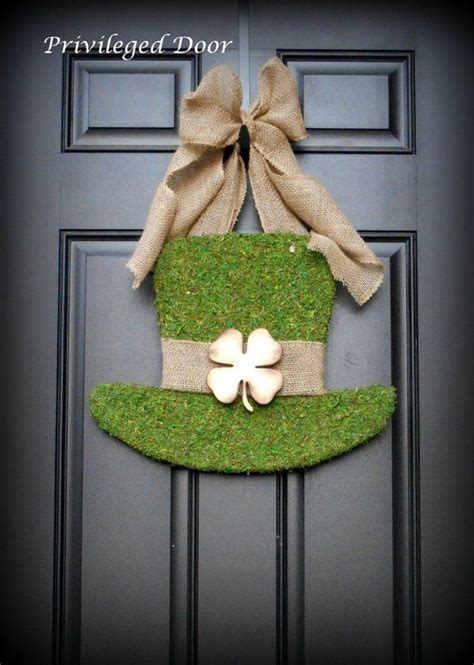 st patricks day decor diy decoration front door httpssilahsilahcomhome decor  st