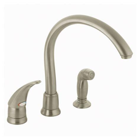kitchen single handle faucet shop moen monticello stainless steel single handle kitchen