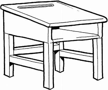 Desk Clipart Teacher Clip Draw Table Drawing