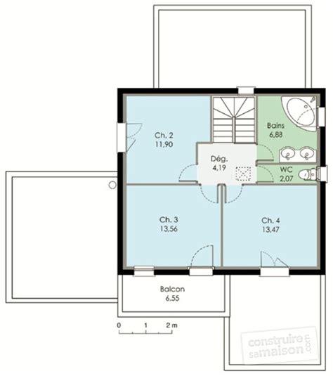 plan maison 4 chambres suite parentale maison contemporaine 2 dé du plan de maison