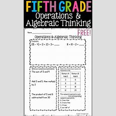 94 Best Algebraic Thinking & Operations 5th Grade Images On Pinterest  5th Grade Math, Fifth