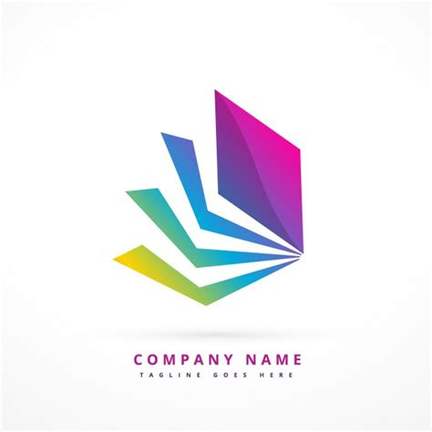 abstract shape colorful logo vector free download