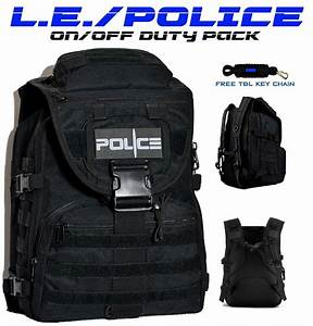 POLICE Law Enforcement Tactical Backpack On/Off Duty Bag ...