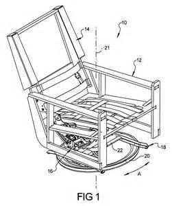 patent us7967383 furniture member swivel base