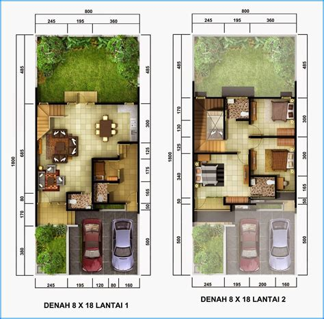 denah rumah minimalis  lantai sederhana   denah