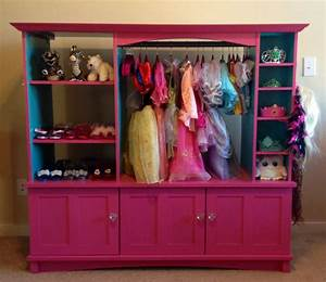 Dress up closet made out of an old entertainment center ...