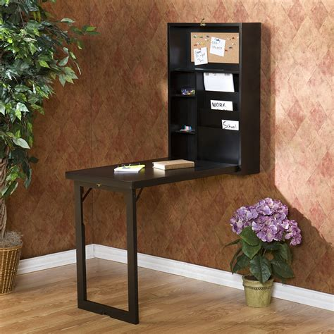 folding wall desk furniture small wall mount computer desk with drawer and